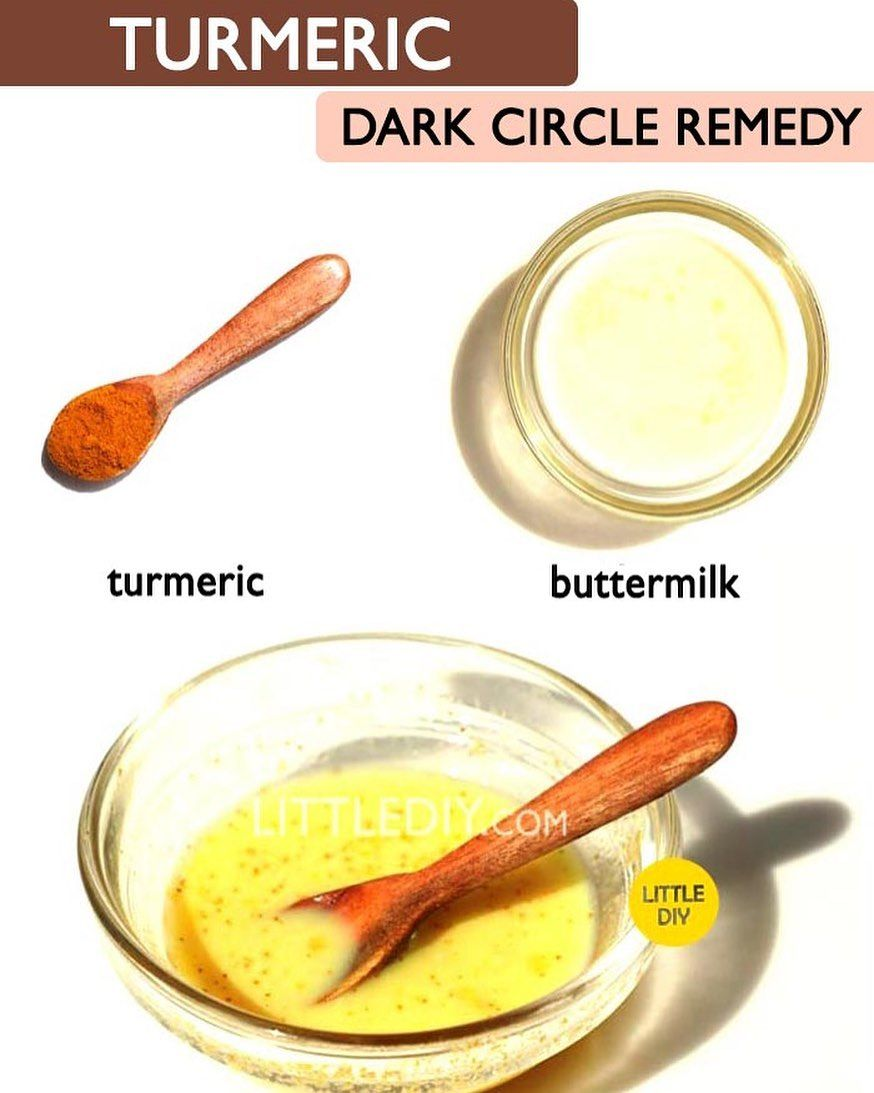 "LITTLE DIY on Instagram: ""Turmeric dark circles remedy ..."