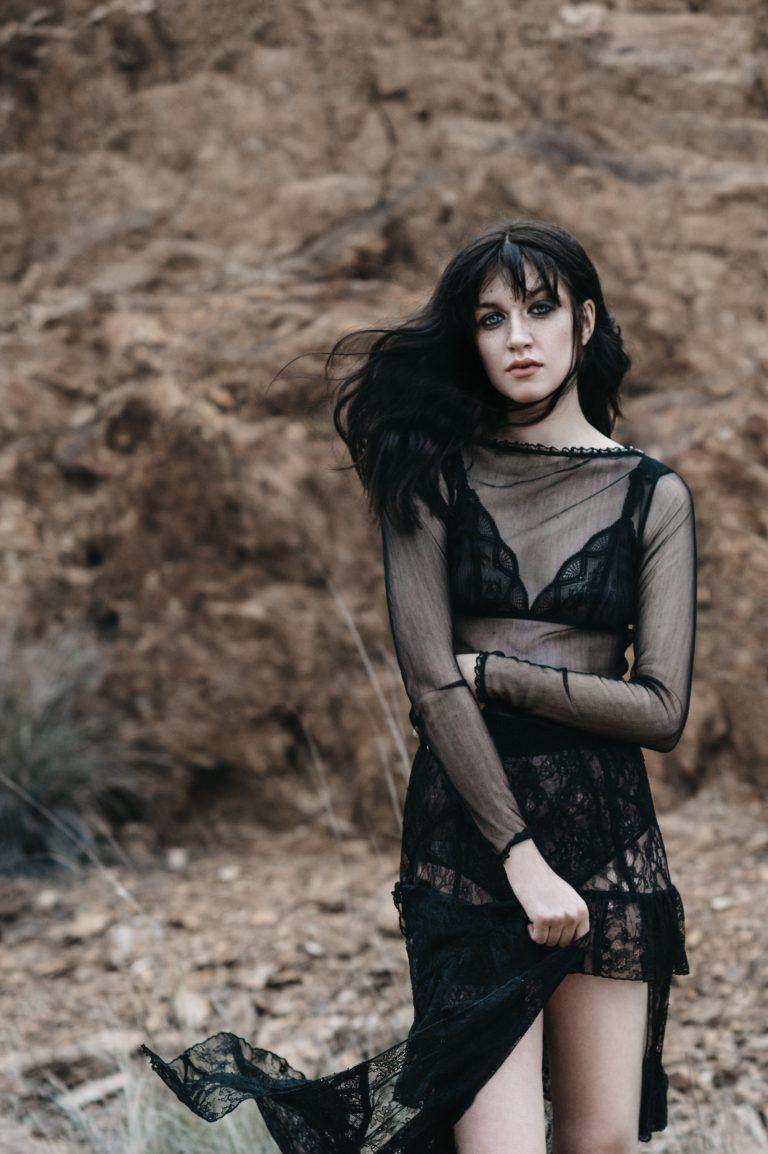 Monica Wears Sheer Dress, $120, By Kira Pizzingrilli