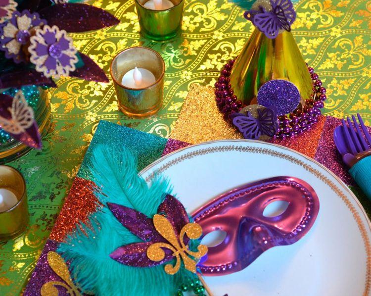 Tischdeko Zu Fasching Selber Basteln Tolle Und Simple Ideen Fur