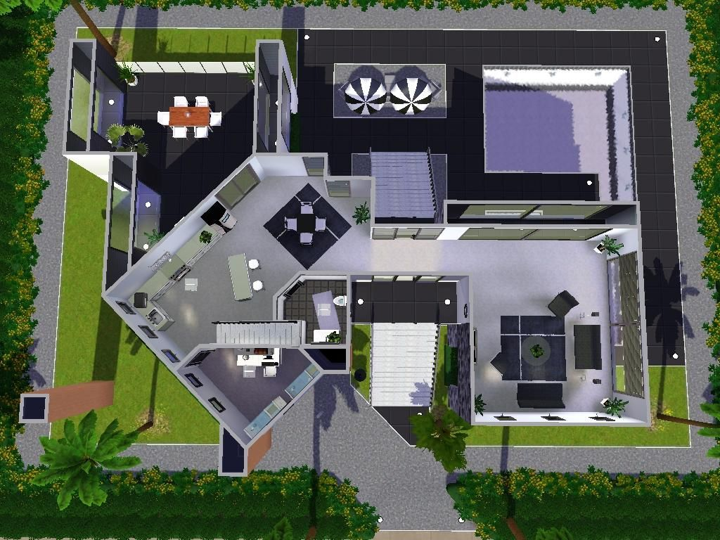 Modern house sims 3 ps3 | House style | Pinterest | Modern and House