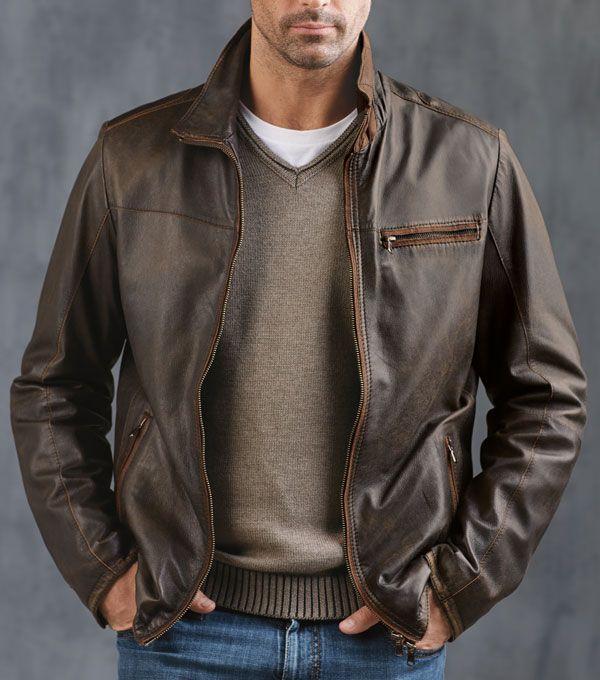 Worn leather jackets