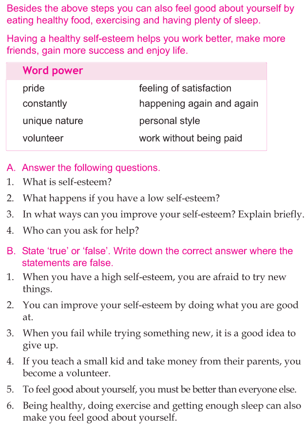 Personality Development Course Grade 5 Lesson Self Esteem 4 Life Skill Essay