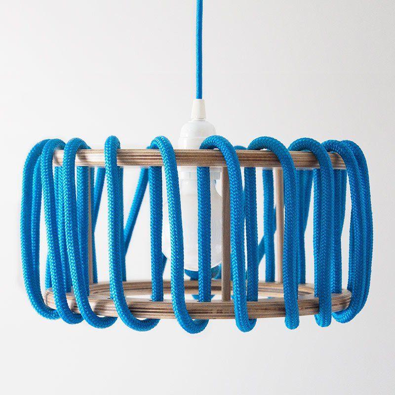 Macaron Oak Lamp, Blue - 30cm - Lights - EMKO - Space & Shape - 1