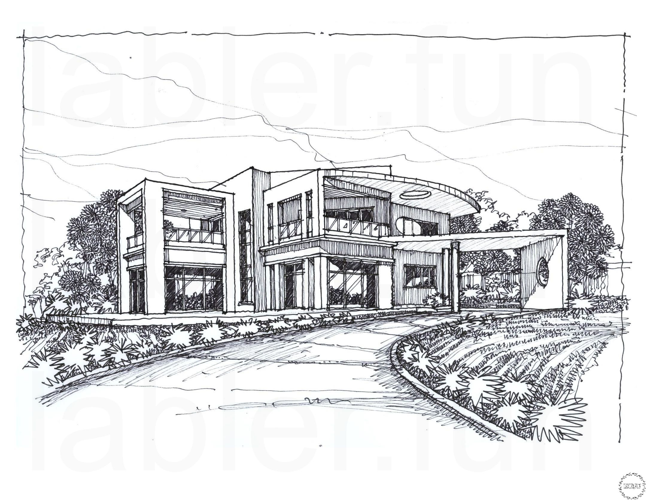 Sketchup Modern House Design House Design Drawing House Sketch Contemporary House Design