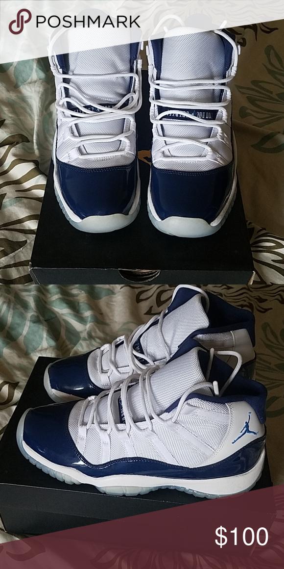 Jordan retro 11   Blue and white