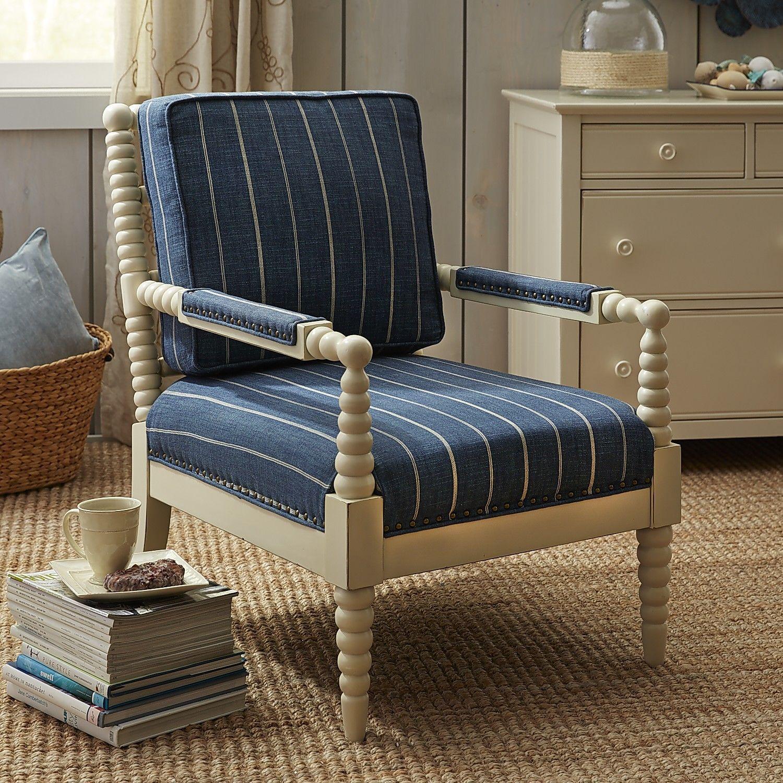 Spindle Arm Chair $500 at Pier e Bobbin Chair Indigo