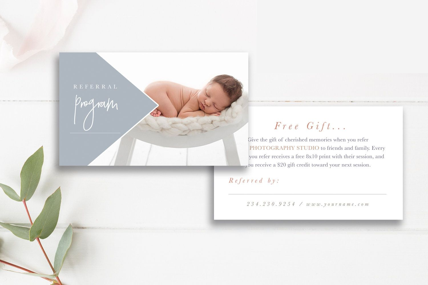 Photography Referral Card Template Referral Program Photography