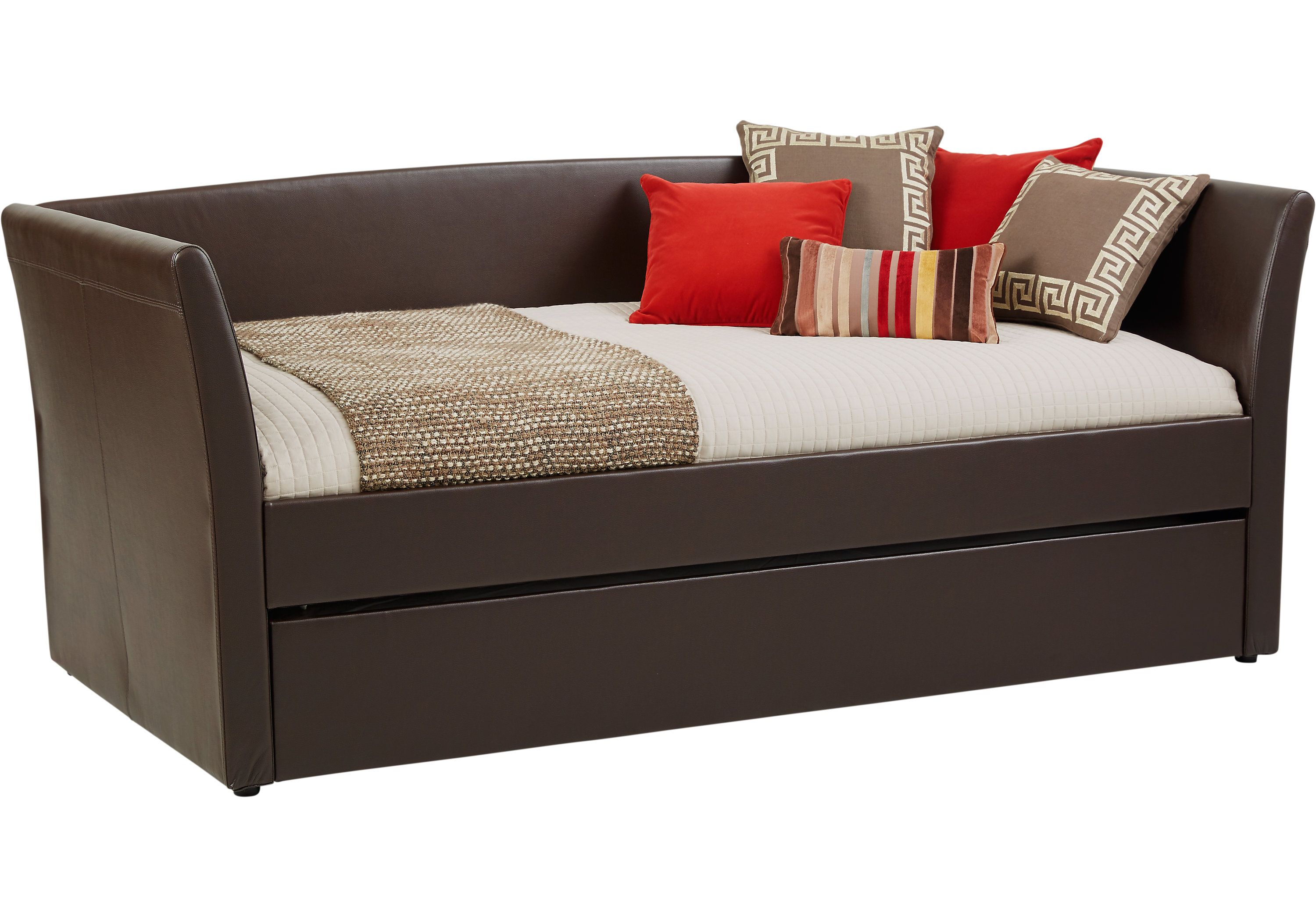 Brianne Brown Daybed Ottomans Dark Wood Daybed with