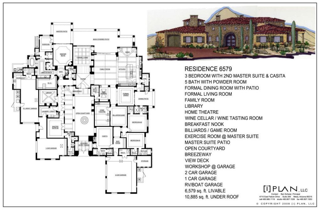 Floor Plans I Plan Llc Custom And Production Residential Design Services Floor Plans C Courtyard House Plans Luxury House Plans Architectural Floor Plans