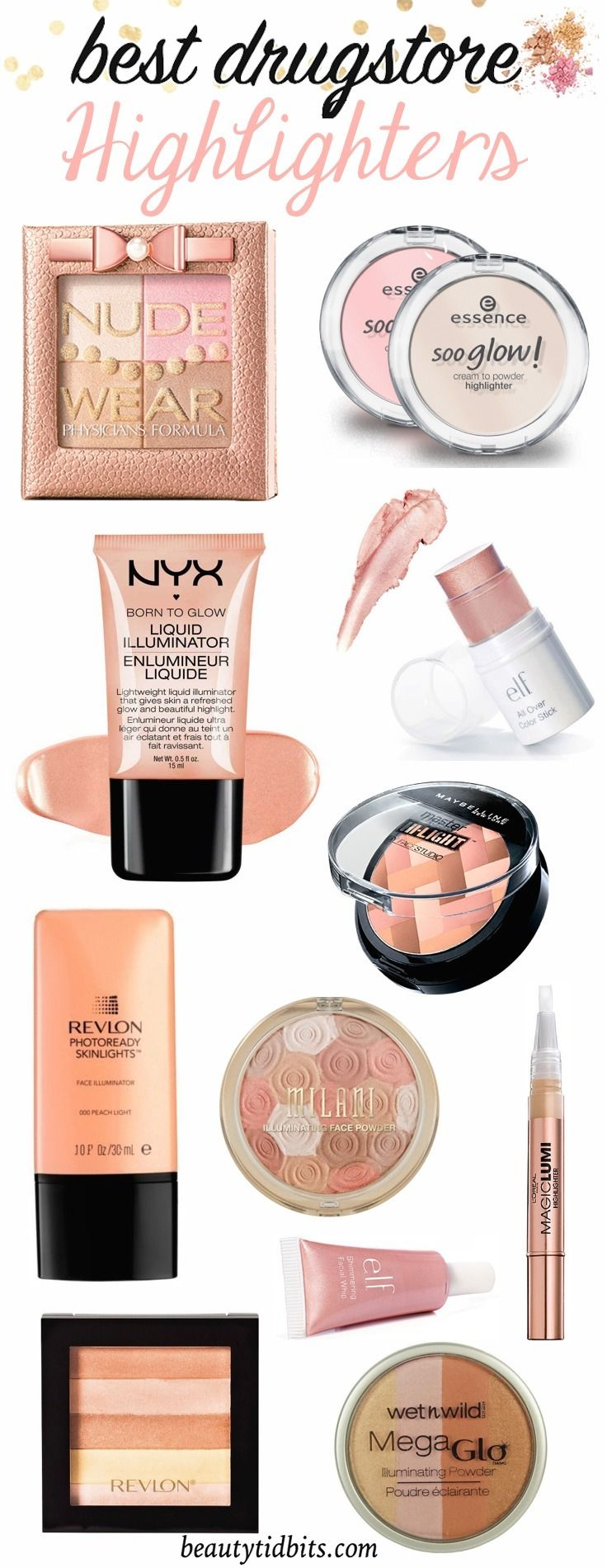 Get Your Glow On 10 Fabulous Drugstore Highlighters Under 15 Best Drug Store Highlighter Makeup Dupes Best Drugstore Makeup