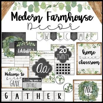 Modern Farmhouse Classroom Decor Bundle #classroomdecor