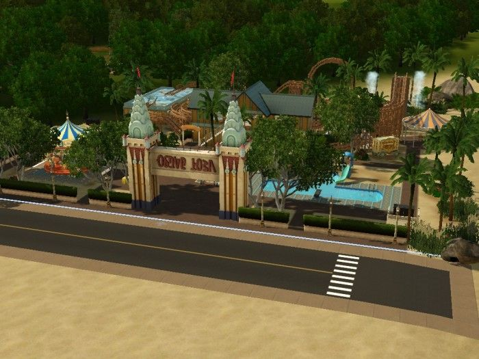 Beachside Fun Park By My Sim Realty Sims 3 Downloads Cc Caboodle Sims Sims 3 Beachside