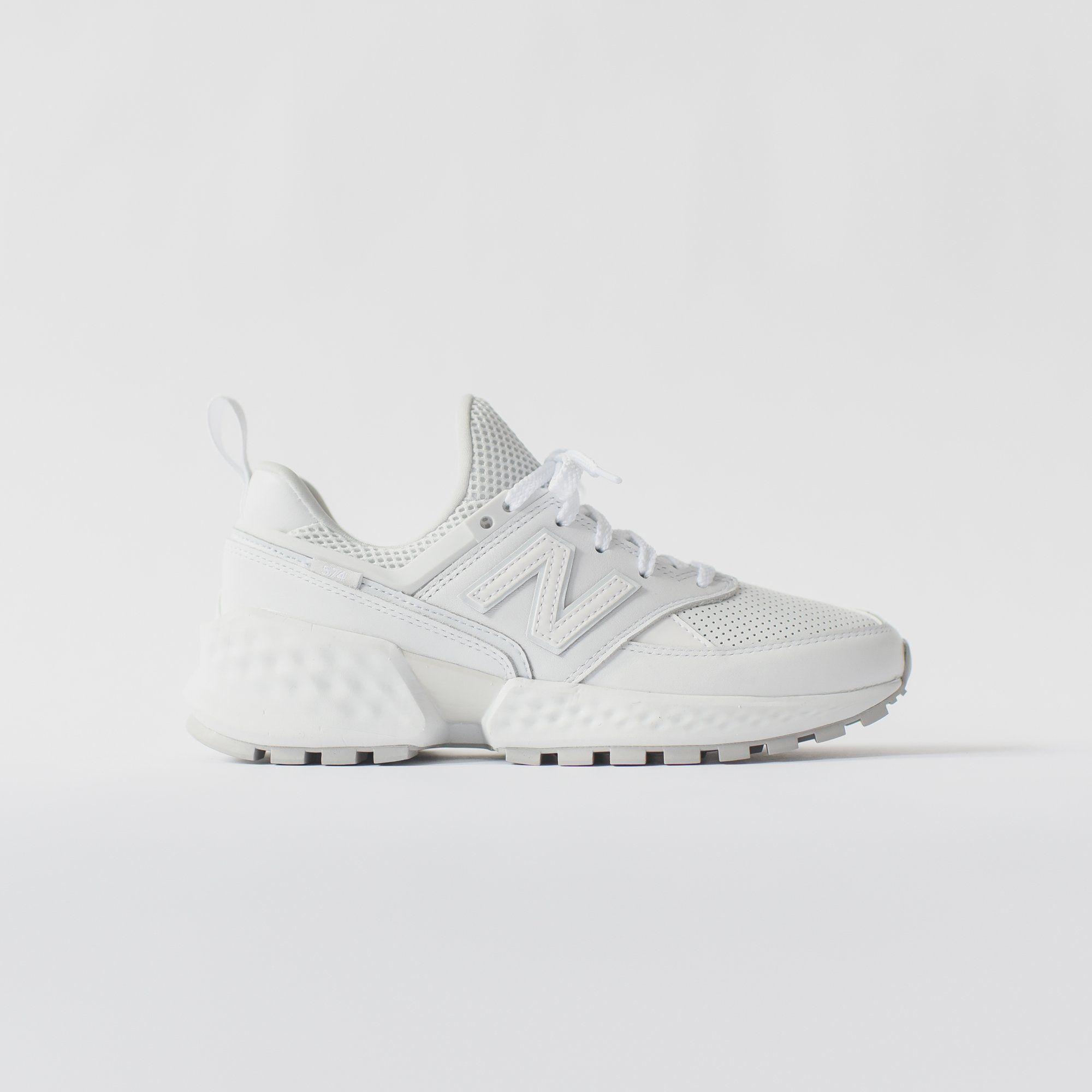 New Balance WMNS 574 Sport White in 2020 Nubuck