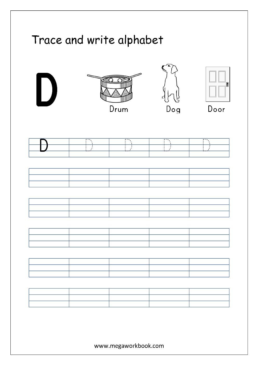 Free English Worksheets Alphabet Writing Capital Letters Letter Tracing Writing Mega Alphabet Writing Practice Letter Writing Practice Alphabet Writing [ 1403 x 992 Pixel ]