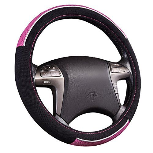New Arrival Horse Kingdom Universal Steering Wheel Cover For Women Girls Breathable Fit Car Truck Suv Air Mesh Black With Pink Car Accessories Online Marke Steering Wheel Cover Wheel Cover Steering