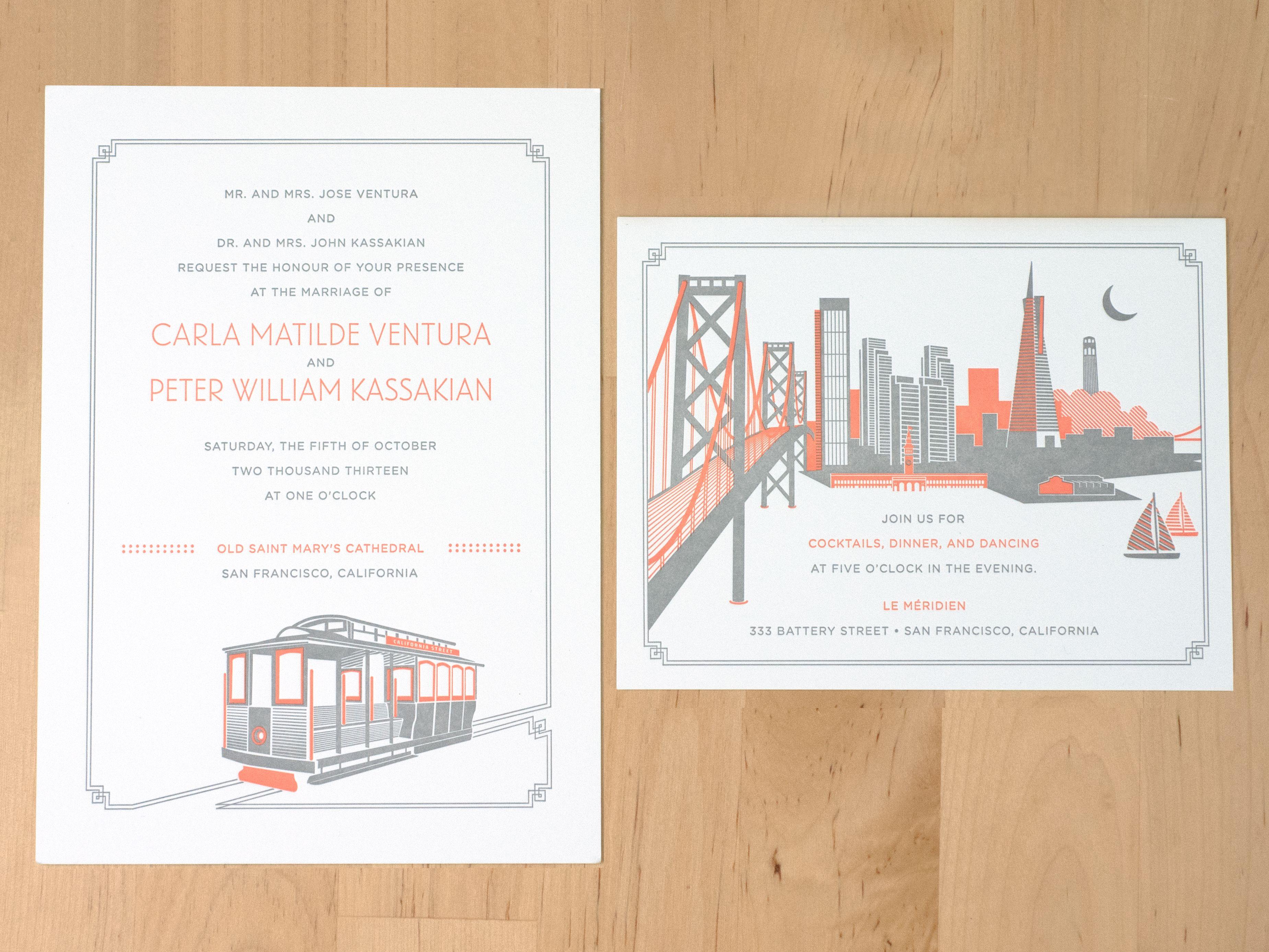 San francisco wedding invitations design des troy our wedding san francisco wedding invitations design des troy stopboris Choice Image