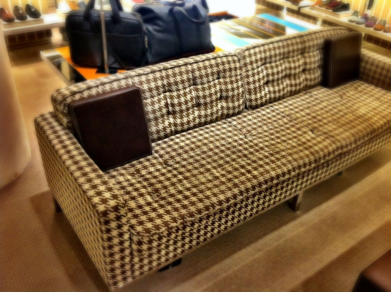 Houndstooth Sofa Fabric Bright Sofas Couch Home Pinterest