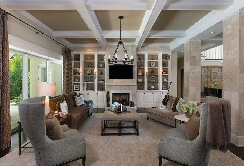 22 Gorgeous Brown and Gray Living Room Designs images