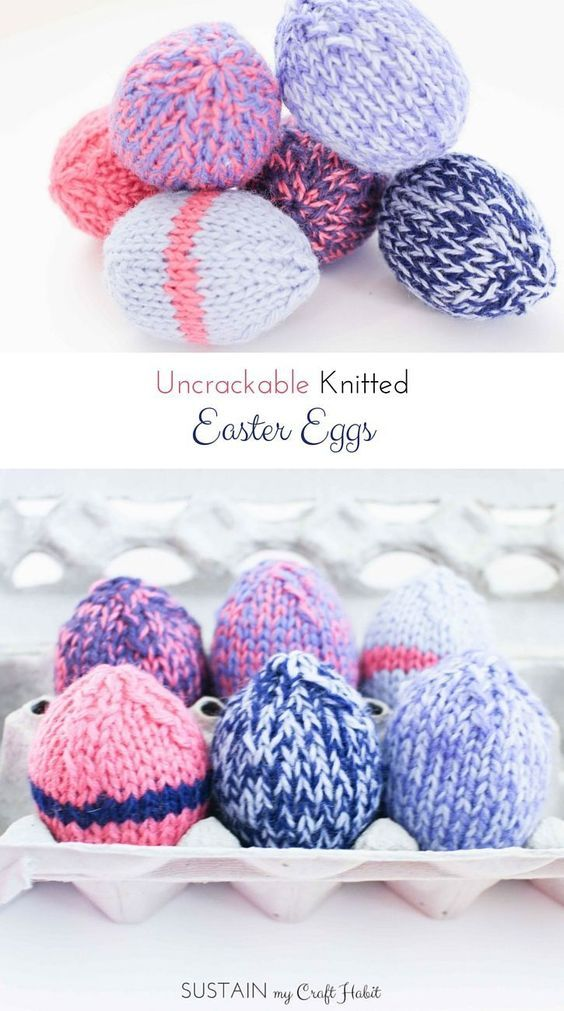 Uncrackable Knitted Easter Eggs | Easter, Egg and Easter décor