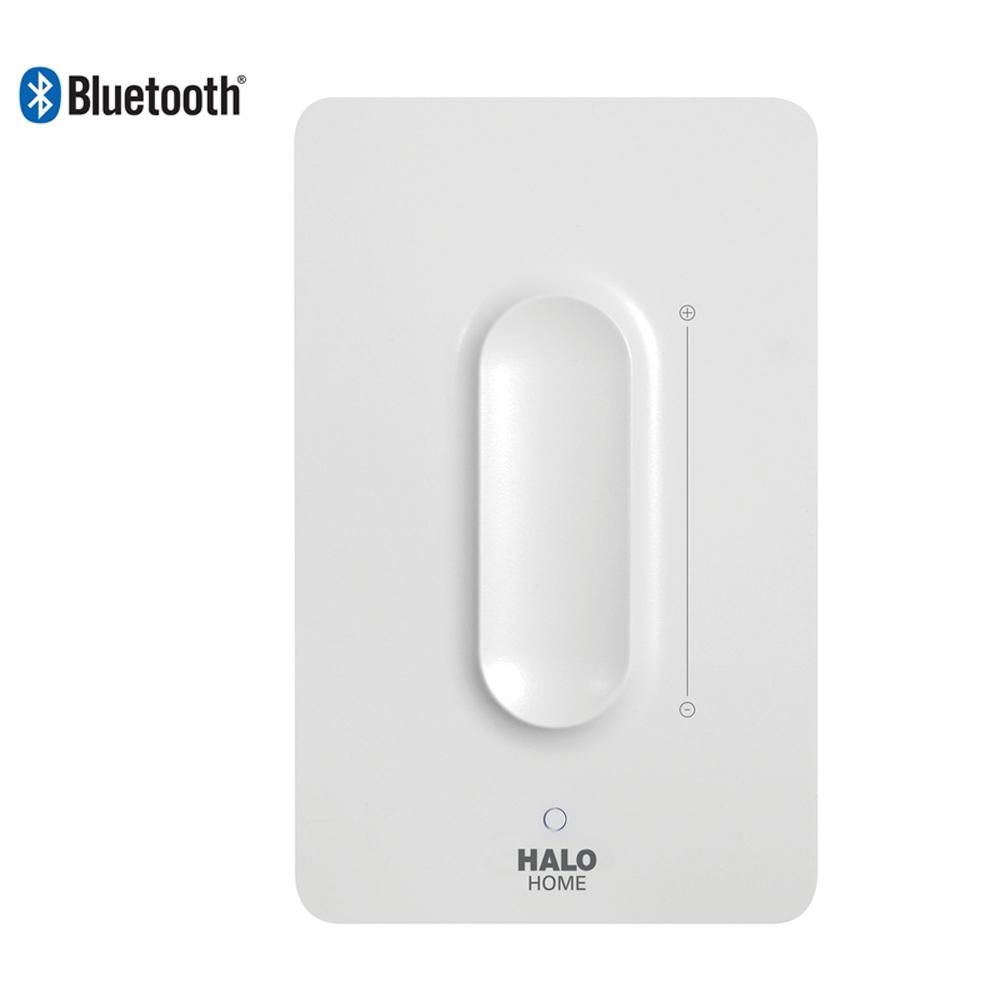 Halo White Anyplace Smart Bluetooth Dimmer Switch By Halo Home Hwas1ble40awh The Home Depot In 2020 Dimmer Light Switch Dimmer Switch Lamp Dimmer Switch