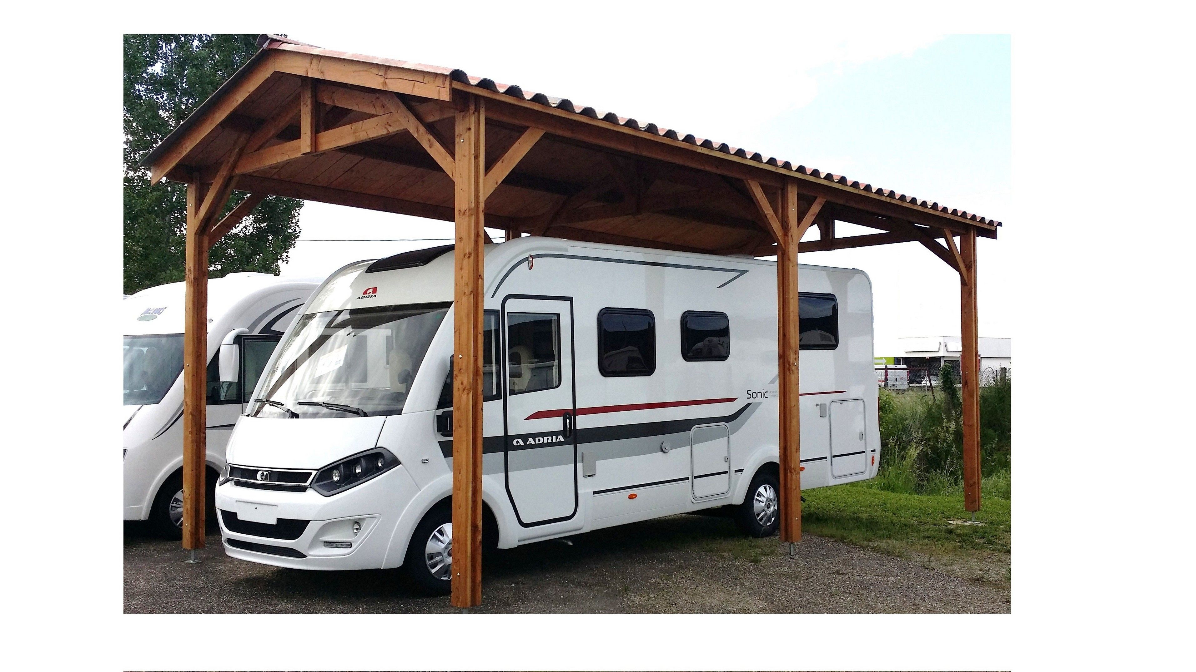 Vente d'abris camping car bois 49,44,85,53,79 Rv storage