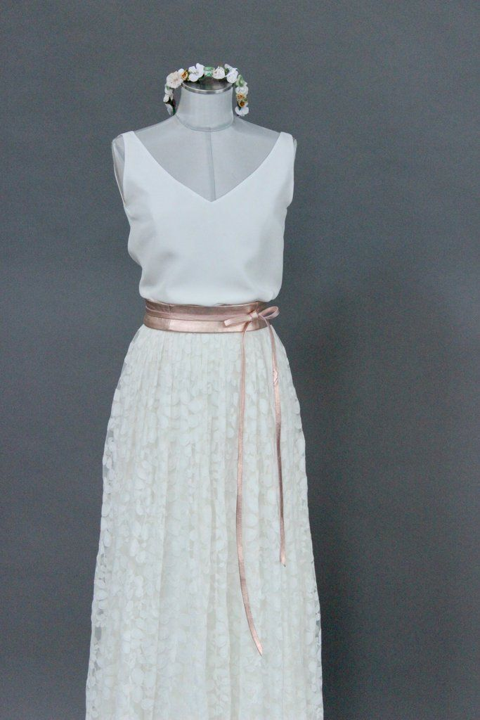 Braut Rock mit Spitze im Boho Stil - Delphine | Kleidung ...