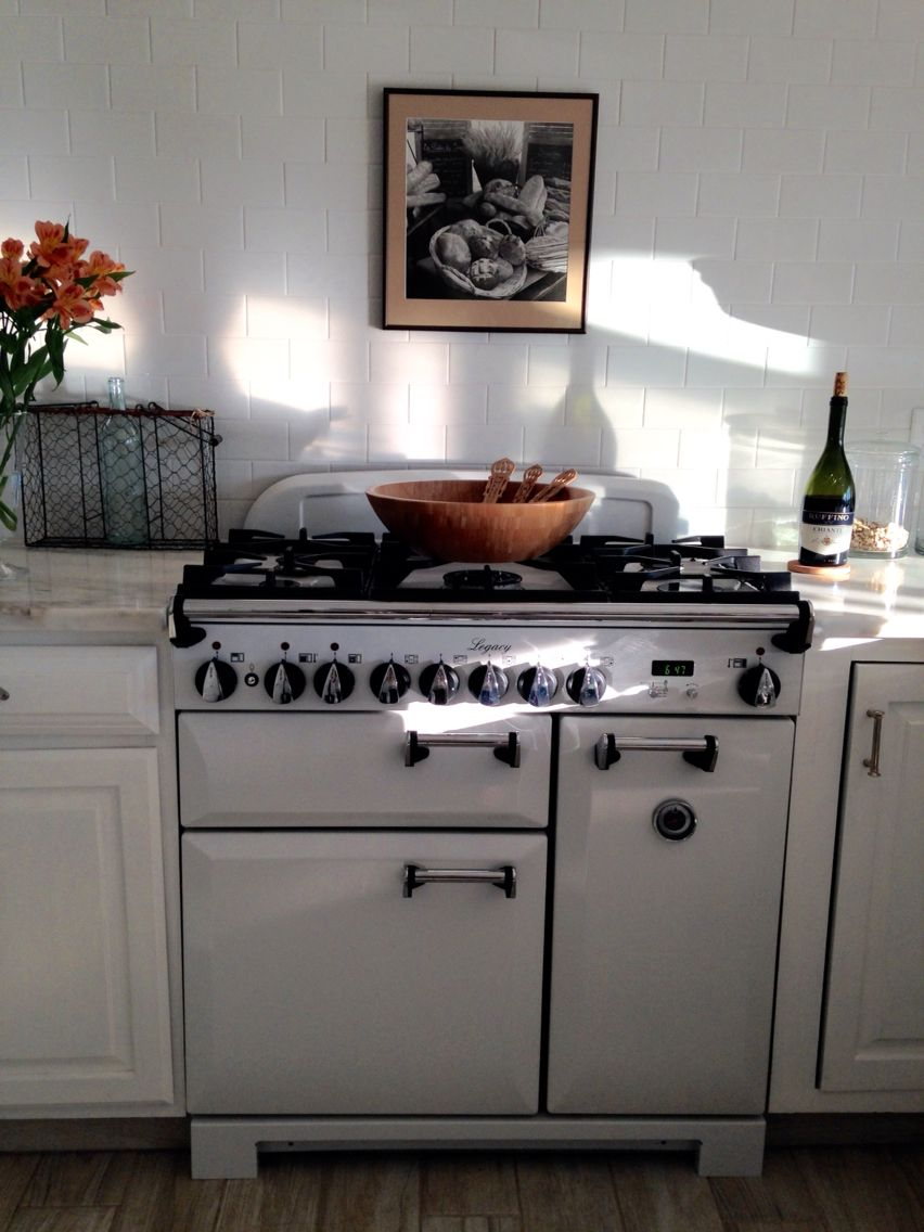 AGA Legacy stove, white crackle subway tile, Imperial Danby ...