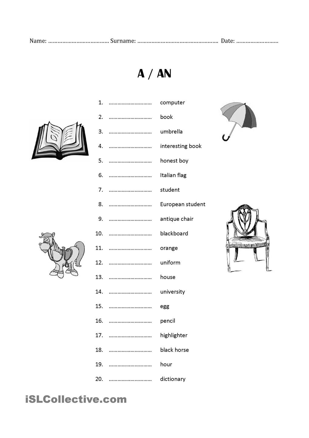 full_12363_a_an_exercise_test_1.jpg (1018×1440) | Teaching Italian ...