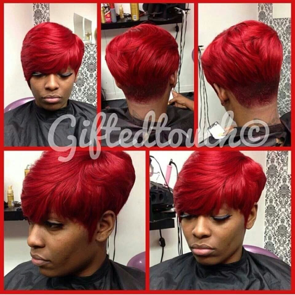 👊👊👊💖  Quick weave hairstyles, Short relaxed hairstyles, Short