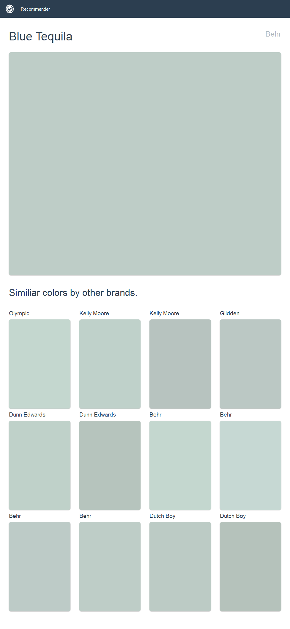 Blue tequila behr click the image to see similiar colors by blue tequila behr click the image to see similiar colors by other brands nvjuhfo Choice Image