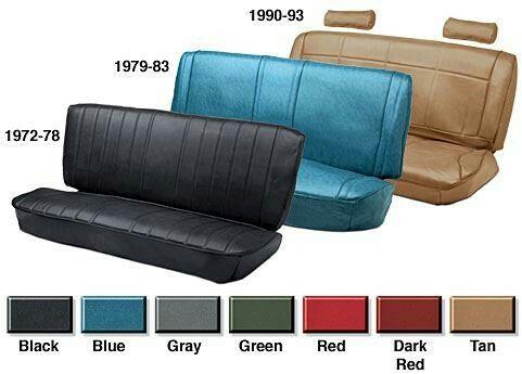 Vinyl Bench Seat Reupholstery Kits 1972 93 Dodge Truck 1974 93 Dodge Ramcharger Chrysler Valiant Car Seats Reupholstery