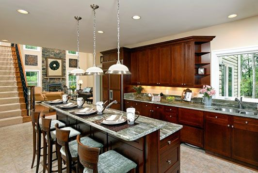 We would like to have a breakfast bar for the kids to sit at when ...