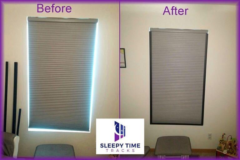Turn Your Bedroom Into A Sleep Haven With Magnetic Sleepy Time Tracks Block Light That Creeps T Room Darkening Shades Window Treatments Bedroom Room Darkening