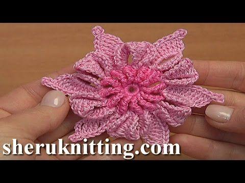 Сrochet Flat Star Flower Tutorial 90 Blume häkeln - YouTube | videos ...