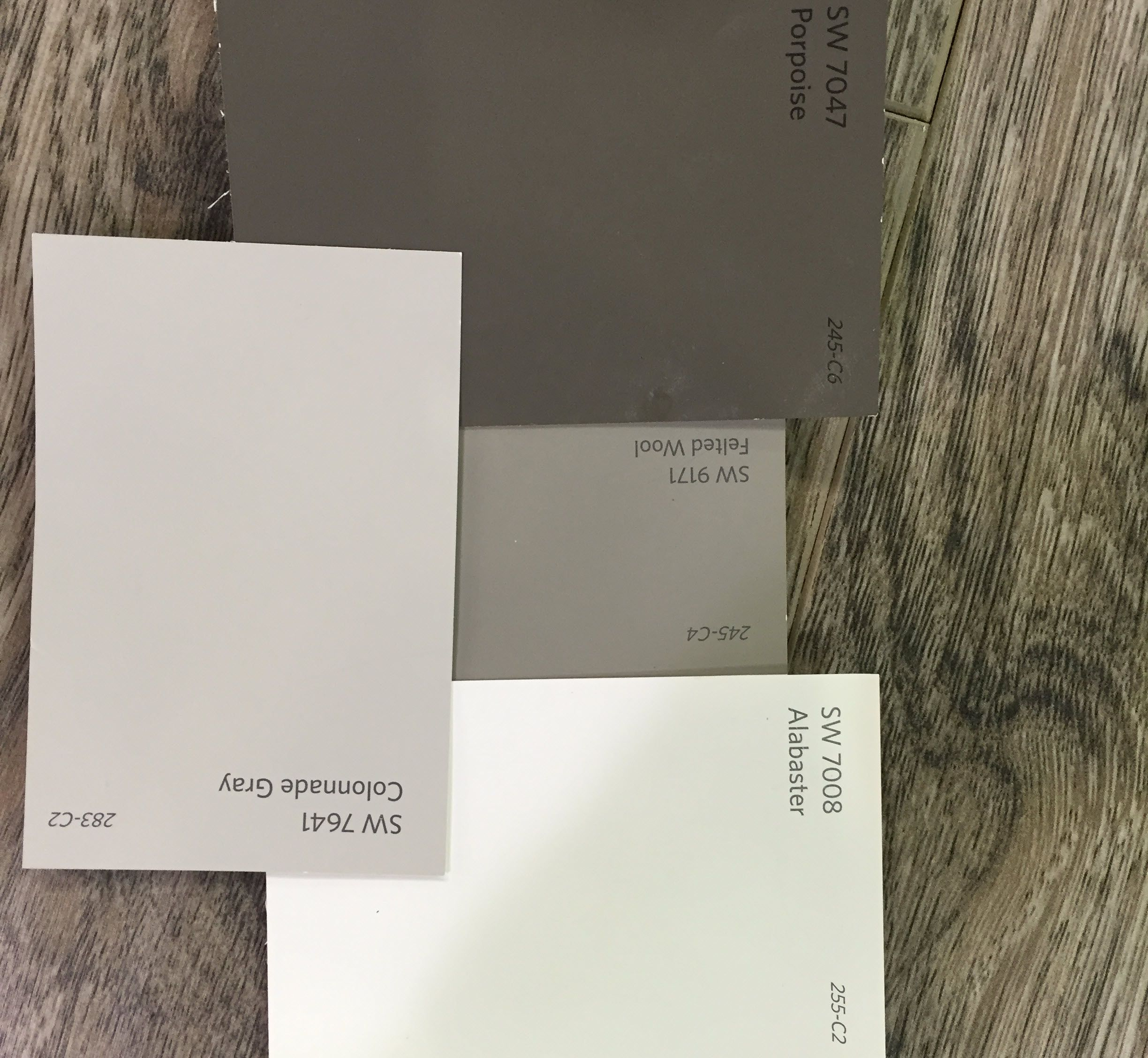 Sherwinwilliams Lower Cabinets Porpoise 7047 Upper Cabinets Felted Wool 9171 Interior Walls Colon Paint Themes Paint Colors For Home Grey Exterior