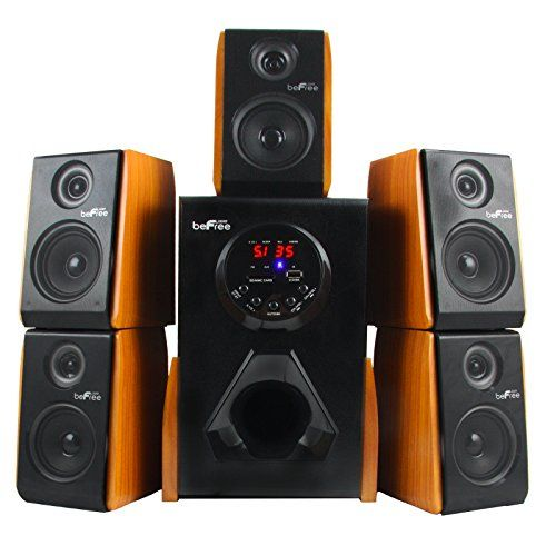 Befree Sound Luxury Home And Office 5 1 Channel Surround Bluetooth Speaker System With Speakers