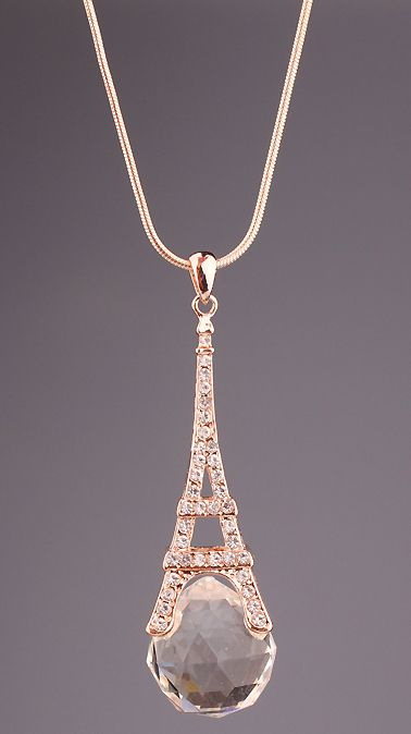 Gold Diamond Eiffel Tower Necklace That Tobias Gives Tris