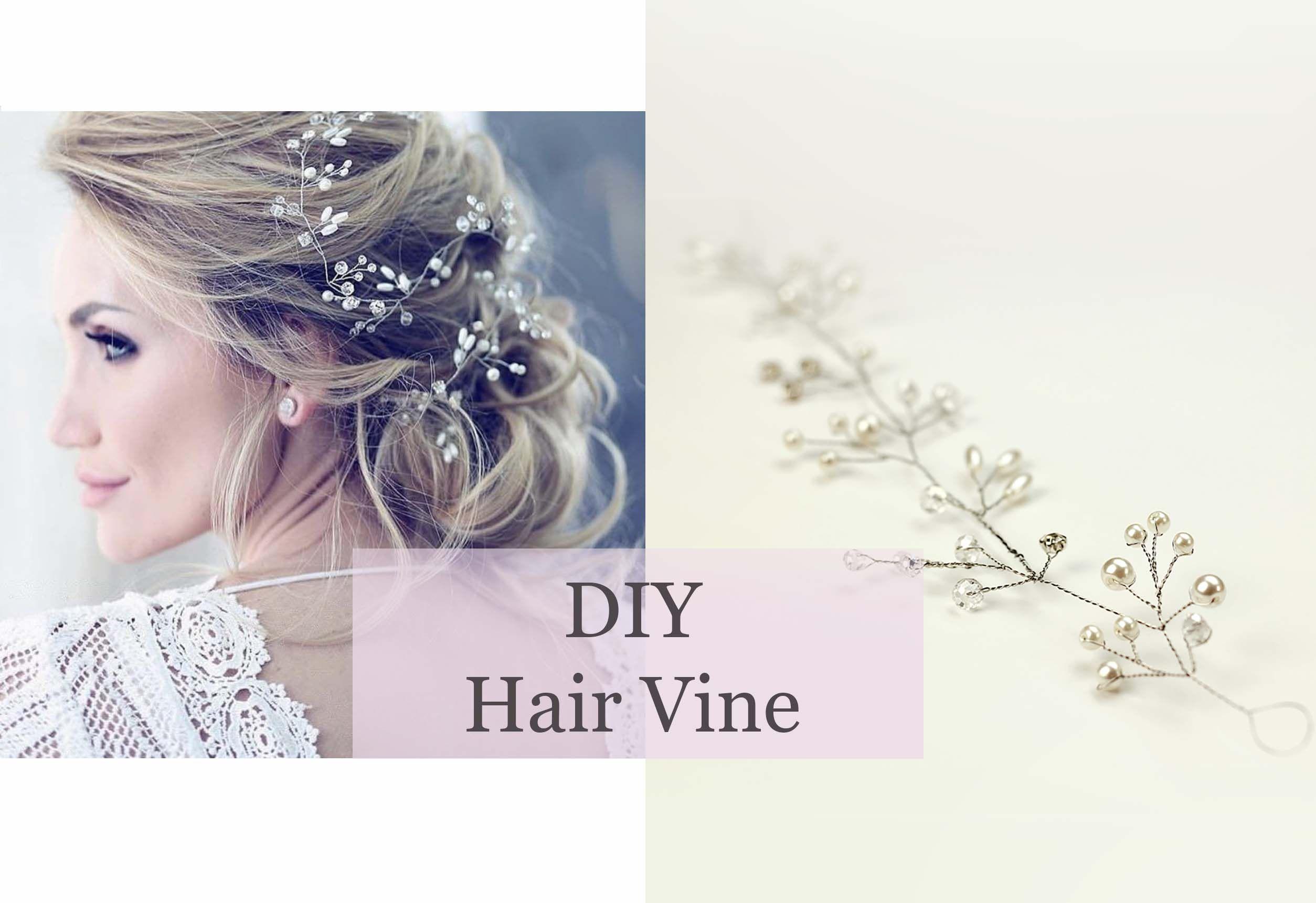 how to make hair vine bridal accessory, headband, tiara