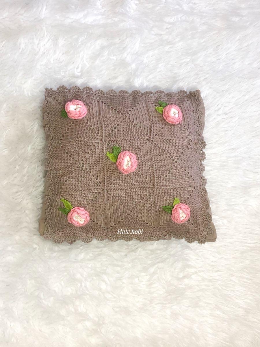 #örgü #crochet #kırlent #yastık #handmade #handmadehomedecor