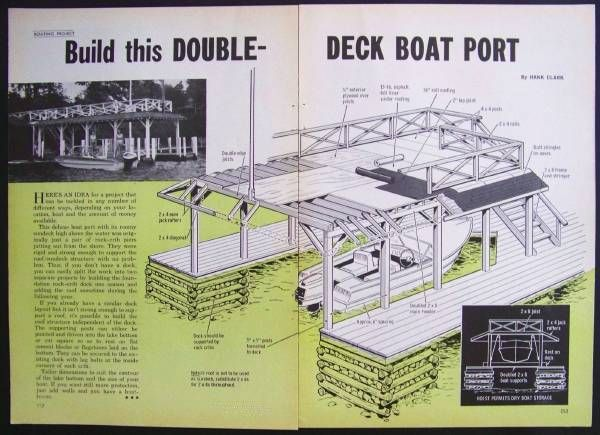 Double Deck Boat House Design Plans Port Sundeck