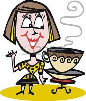 10045536 Caricatura De Mujer Beber Caf Jpg 297 350 Coffee Cartoon Charlie Brown Fictional Characters