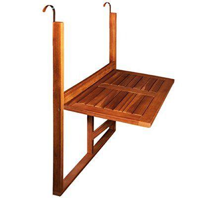 table de balcon en bois rabattable suspendue balcon terrasse 64 x 45 x 87 cm balcon table de