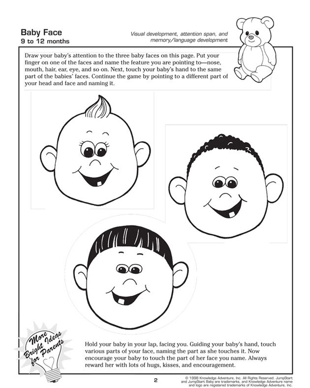 Baby Face - Fun, Free Toddler Learning Activities