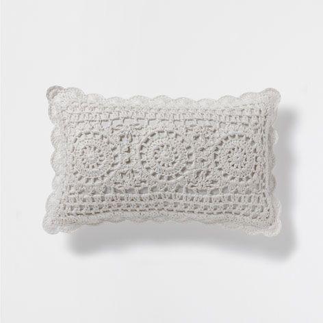 Cojin Lino Crochet Cojines Decoracion Y Cojines Zara Home Estados Unidos Kirlent Orme Kalpler Kirlent