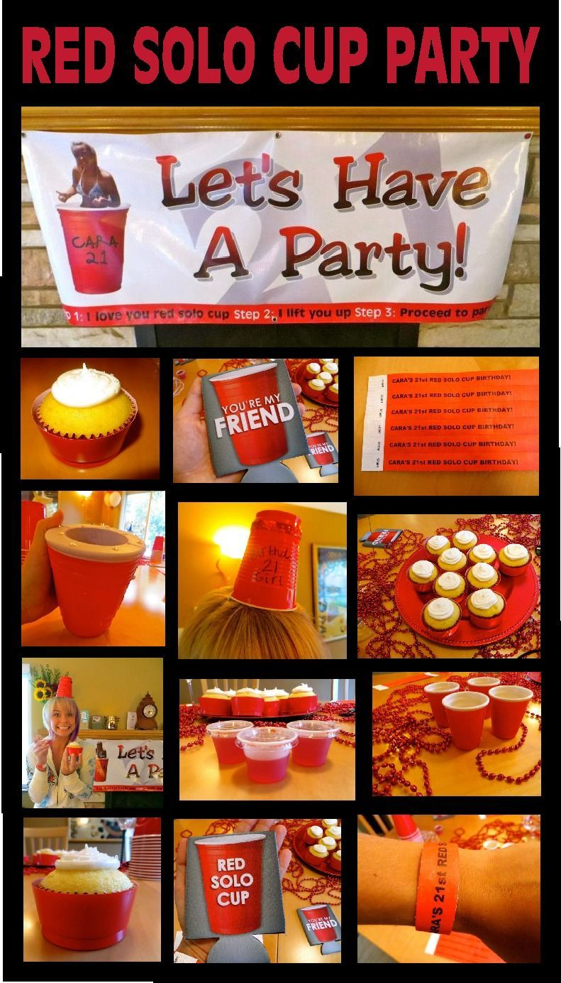 So Many Great Ideas For Cody S Party Codys Great Ideas Party In 2020 Solo Cups Party Red Solo Cup Red Cup Party
