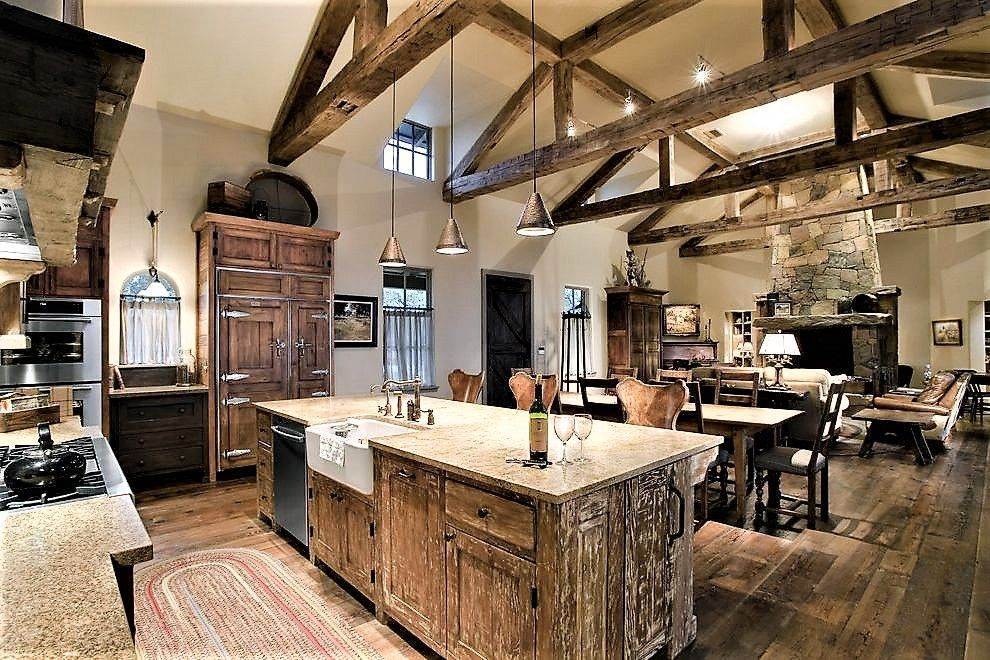 34 Incredible Barndominium Interiors #barndominiumideas