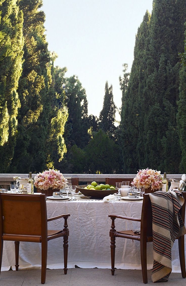 A breathtakingly romantic outdoor table setting for two