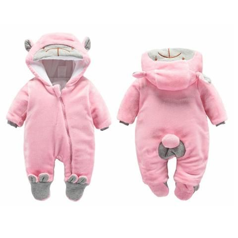 40e35a6a4afc BibiCola newborn rompers winter thick warm baby girls rompers ...