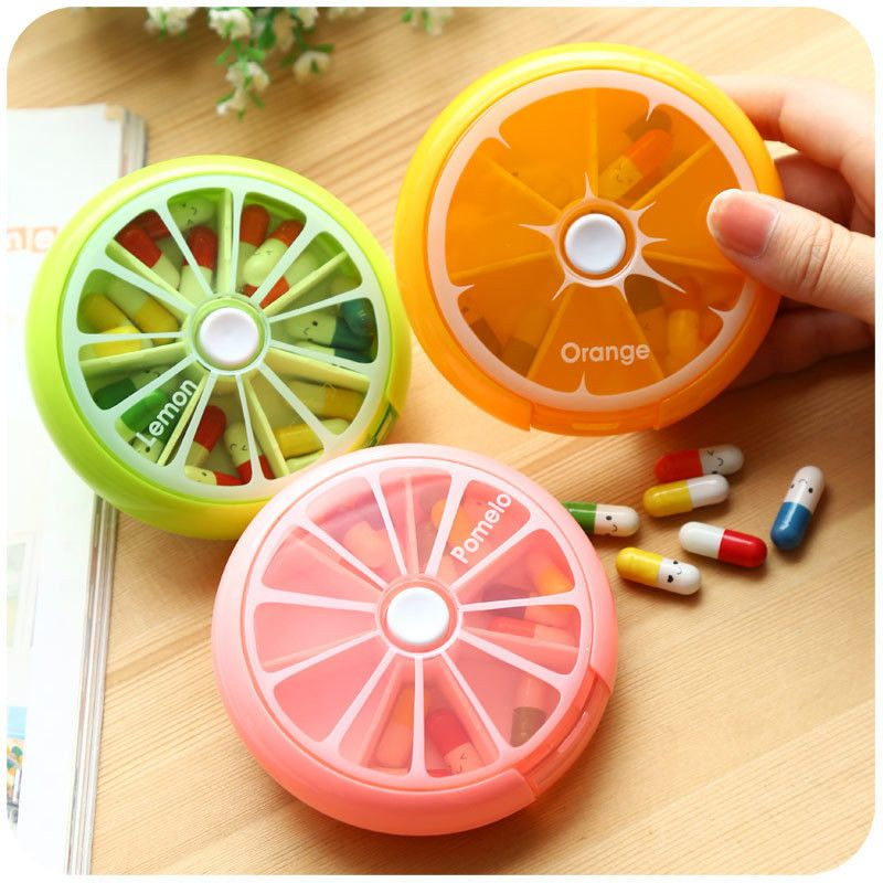 Hot Outdoor Travel Pill Portable 7 Day Rotating Pill Case Medicine