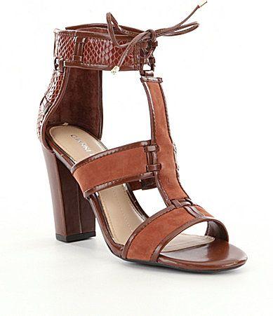 074654da2a05 Gianni Bini Meeah TStrap Block Heel Sandals  Dillards